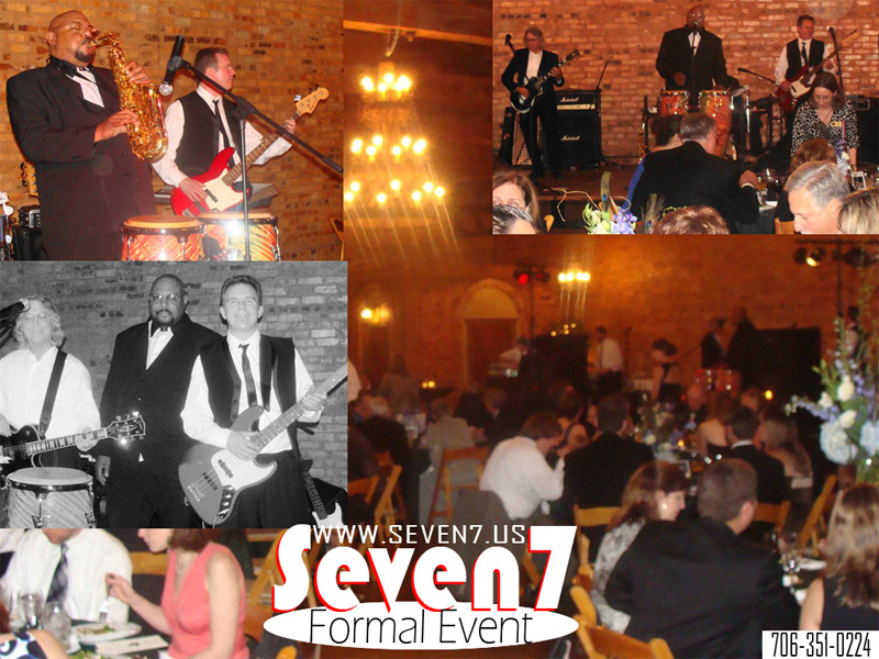 Seven 7 Athens Dance Cover Band and Atlanta Georgia's best wedding band, plays music at weddings, graduation party (parties), corporate events, and your ga dawg tailgate 80s dance live at Tucker plantation performing a wedding